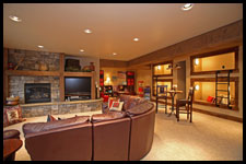 Entertainment Room by Archer Dream Homes